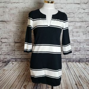 EUC J Crew Tunic Black & White XS